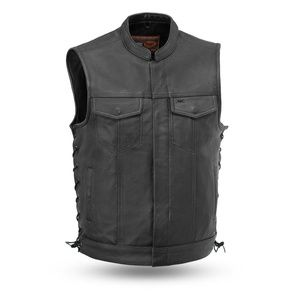 EMC EXTREME Sniper - Men's Motorcycle Leather Vest